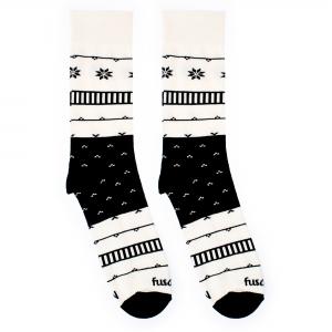 čiernobielé trendy ponožky